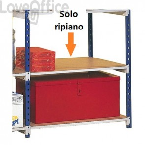 5 ripiani in truciolato per scaffalature Paperflow