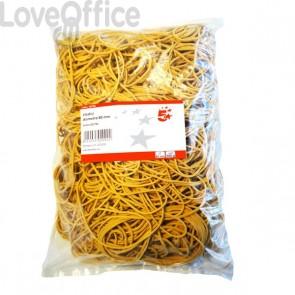 Elastici VIVA giallo diametro 80 mm - E080-500 (conf. 500 gr)