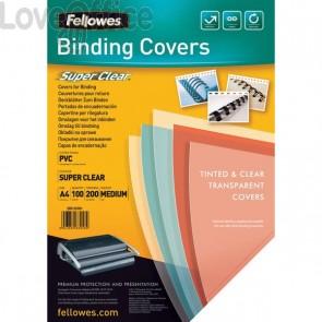 Copertine trasparenti per rilegatura Fellowes - 200mic - PVC - 5376102 (conf.100)