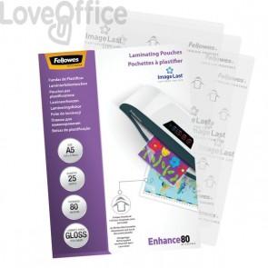 Pouches per plastificatrici Fellowes - 80 micron per lato - opaca - A3 - 5452003 (conf.100)