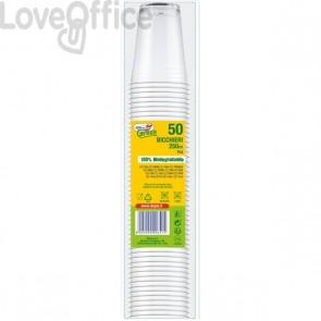 Bicchieri linea DoplaGreen - 250cc - trasparente - 07709 (conf.50)