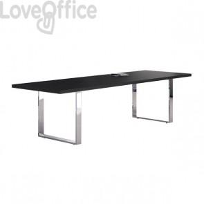 Tavolo riunioni nero Artexport Flora - nero venato - 220x100x74 cm