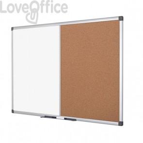 Pannello combo sughero/lavagna bianca Bi-Office - 120x90 cm - XA0503170