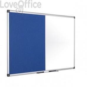 Pannello combo feltro/lavagna bianca Bi-Office - 120x90 cm - feltro grigio - XA0522170
