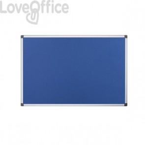 Pannello in feltro Maya Bi-Office - 120x90 cm - blu - FA0543170