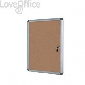 Bacheca Enclore in sughero Bi-Office - 6xA4 - 72x67,4 cm - VT620101150