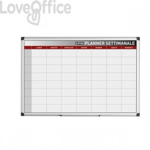 Lavagna planning Bi-Office - settimanale - 90x60 cm