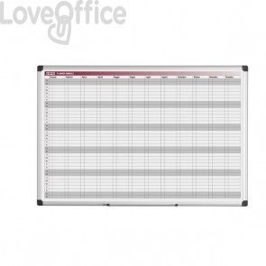 Lavagna planning annuale Bi-Office - 90x60 cm