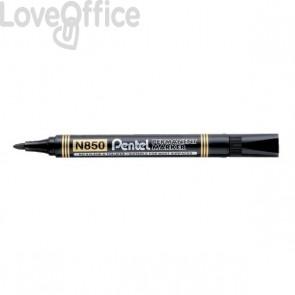 Pentel N850 Pennarelli indelebili neri - linea Amiko - tonda - 2 mm (conf.12)