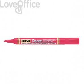 Pentel N850 Pennarelli indelebili rossi - linea Amiko - tonda - 2 mm (conf.12)