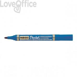 Pentel N850 Pennarelli indelebili blu - linea Amiko - tonda - 2 mm (conf.12)