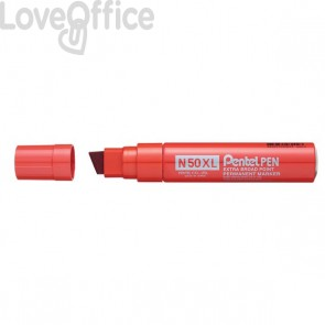Pennarello indelebile rosso - Pentel N50 - Extra Large - 17 mm