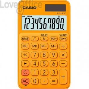 Calcolatrice tascabile SL-310UC a 10 cifre Casio - arancione - SL-310UC-RG