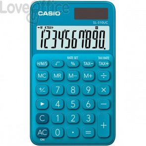 Calcolatrice tascabile SL-310UC a 10 cifre Casio - blu - SL-310UC-BU