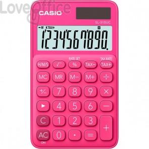 Calcolatrice tascabile SL-310UC a 10 cifre Casio - rosso - SL-310UC RD