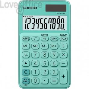 Calcolatrice tascabile SL-310UC a 10 cifre Casio - verde pastello - SL-310UC-GN