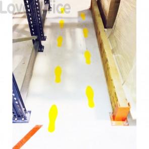 Stickers adesivi di sicurezza Tarifold - impronta - 25,8x7,5 cm - giallo - B197804 (conf.10)