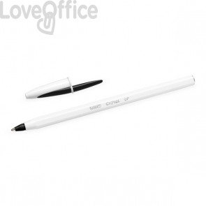 Penne Cristal UP Bicolor Bic - Bianco/Nero - 949880 (conf.20)