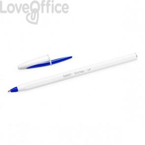 Penne Cristal UP Bicolor Bic - Bianco/Blu - 949879 (conf.20)
