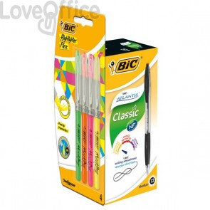 Value Pack Atlantis Bic - 1 mm - Nero - 949844 (conf.12)