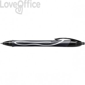 Penna Gelocity Quick Dry Bic - 0,7 mm - nero - 949873 (conf.12)