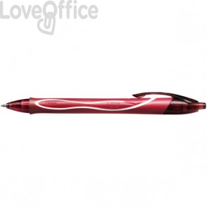 Penna Gelocity Quick Dry Bic - 0,7 mm - rosso - 949874 (conf.12)