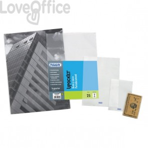Buste a sacco Upocket Favorit - trasparente - 5,4x8,5 cm - 400102316 (conf.100)