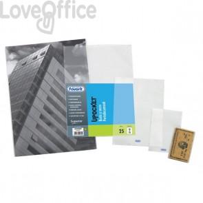 Buste a sacco Upocket Favorit - trasparente - 11x16 cm - 400102331 (conf.100)