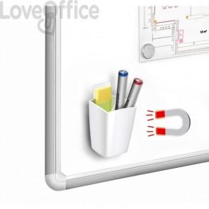 Portapenne magnetico CEP - 78x74x95 mm - bianco - 1005310021