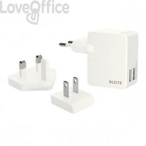 Caricatore universale Duo USB Leitz Complete Esselte - 100~240 V (presa Tipo C) - bianco - 65200001