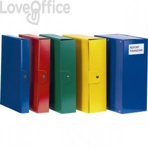 Scatola portaprogetti Delso Order Esselte - Dorso 10 cm - 25x35 cm - Blu