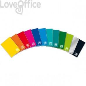 Quaderni quadretti 1 cm - One Color 80 Blasetti - A4 - 10 mm - 40 fogli - 80 g/mq (conf.10)