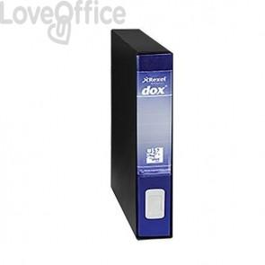 Registratore a leva Dox 4 - Commerciale - dorso 5 cm - 23x29,7 cm - blu - D26404
