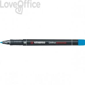 Stabilo Pennarelli indelebili blu - Stabilo OHPen Universal - media - 1 mm (conf.10)