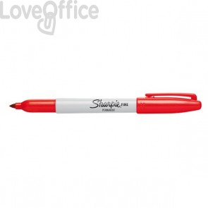 Pennarelli indelebili rossi - Pennarelli Sharpie Fine - 1 mm (conf.12)