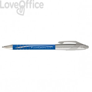 Penna a sfera a scatto Flexgrip Elite Papermate - 1,4 mm - blu - S0767610 (conf.12)