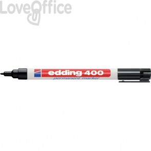 Pennarello indelebile nero Edding 400 - 1 mm