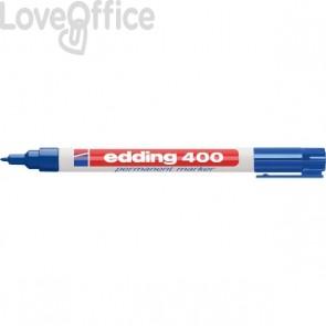 Pennarello indelebile blu Edding 400 - 1 mm