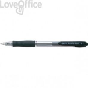 Penna a sfera a scatto Supergrip Pilot - 0,7 mm - nero