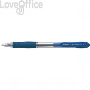 Penna a sfera a scatto Supergrip Pilot - 0,7 mm - Blu