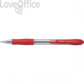 Penna a sfera a scatto Supergrip Pilot - 0,7 mm - rosso - 001533 (conf.12)