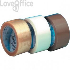 Syrom Nastro da imballaggio bianco - silenzioso - PPL - 50 mm x 66 m - 50 my - 5691 (conf.6)