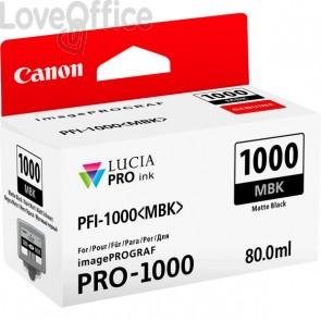 Cartuccia Canon Originale inkjet 0545C001 Cartuccia PFI-1000MBK - 80 ml - nero opaco