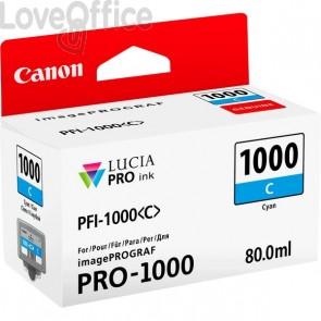 Cartuccia Canon Originale inkjet 0547C001 Cartuccia PFI-1000C - 80 ml - ciano