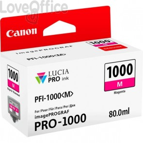 Cartuccia Canon Originale inkjet 0548C001 Cartuccia PFI-1000M - 80 ml - magenta