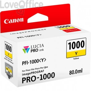 Cartuccia Canon Originale inkjet 0549C001 Cartuccia PFI-1000Y - 80 ml - giallo