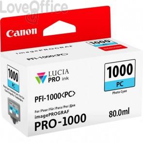 Cartuccia Canon Originale inkjet 0550C001 Cartuccia PFI-1000PC - 80 ml - ciano foto