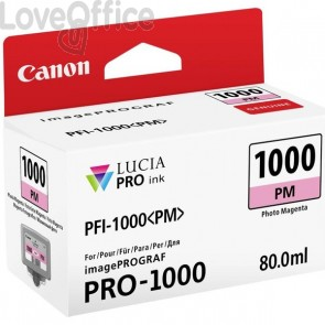 Cartuccia Canon Originale inkjet 0551C001 Cartuccia PFI-1000PM - 80 ml - magenta foto