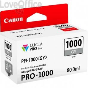 Cartuccia Canon Originale inkjet 0552C001 Cartuccia PFI-1000GY grigio - 80 ml - grigio