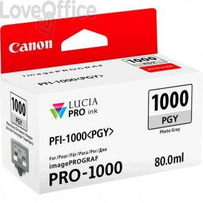 Originale Canon inkjet 0553C001 Cartuccia PFI-1000PGY - 80 ml - grigio chiaro